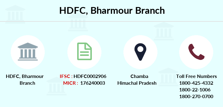 Hdfc-bank Bharmour branch
