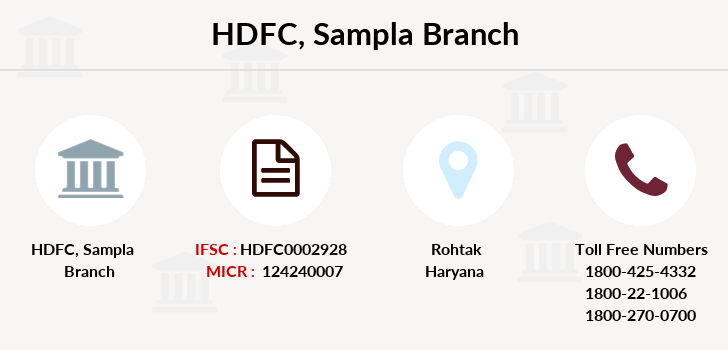 Hdfc-bank Sampla branch
