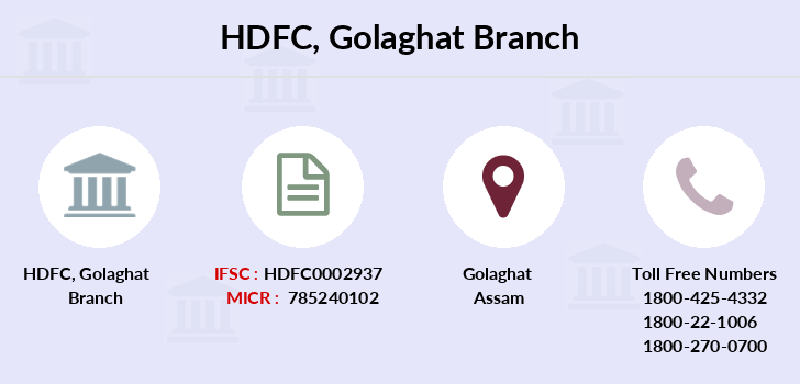 Hdfc-bank Golaghat branch