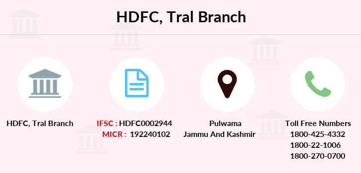 Hdfc-bank Tral branch