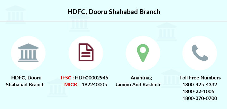 Hdfc-bank Dooru-shahabad branch