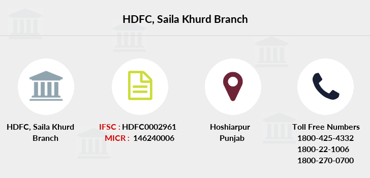 Hdfc-bank Saila-khurd branch