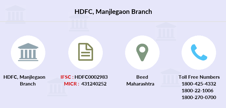 Hdfc-bank Manjlegaon branch