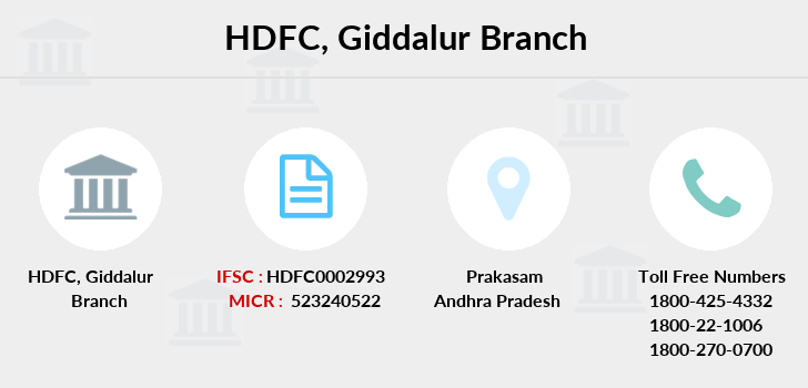 Hdfc-bank Giddalur branch