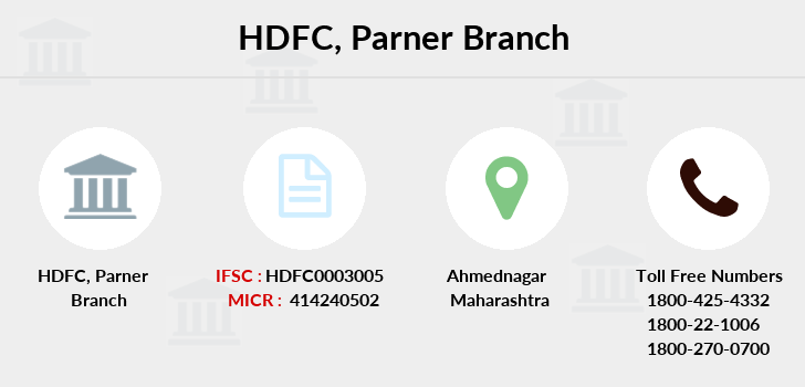 Hdfc-bank Parner branch