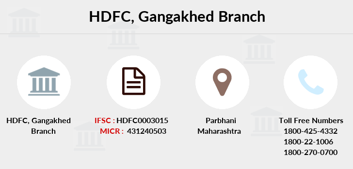 Hdfc-bank Gangakhed branch