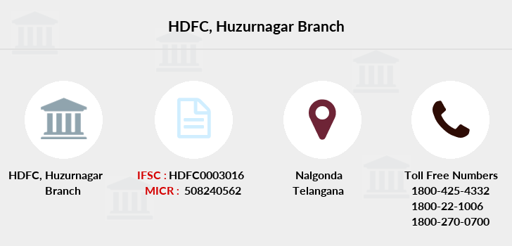 Hdfc-bank Huzurnagar branch