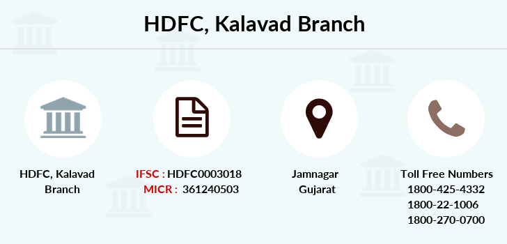 Hdfc-bank Kalavad branch