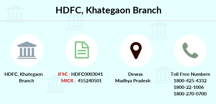 Hdfc-bank Khategaon branch