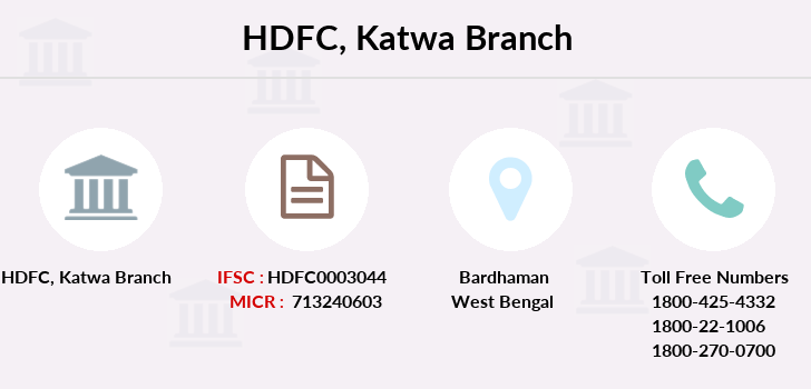 Hdfc-bank Katwa branch