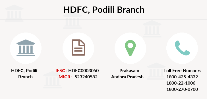 Hdfc-bank Podili branch