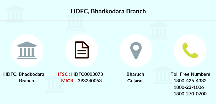 Hdfc-bank Bhadkodara branch