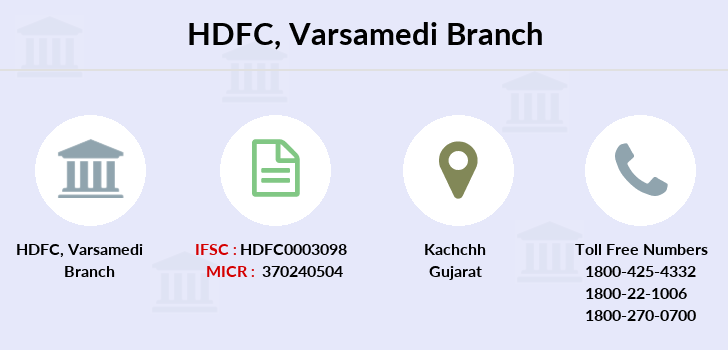 Hdfc-bank Varsamedi branch