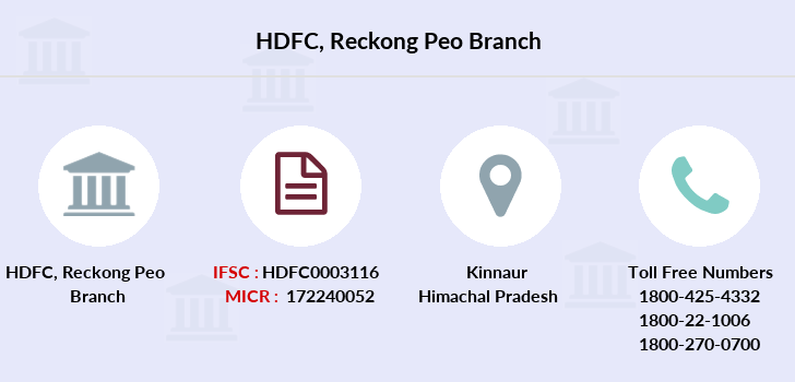 Hdfc-bank Reckong-peo branch
