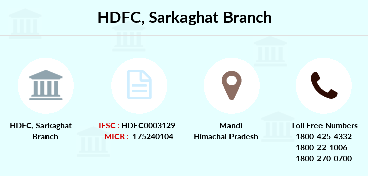 Hdfc-bank Sarkaghat branch