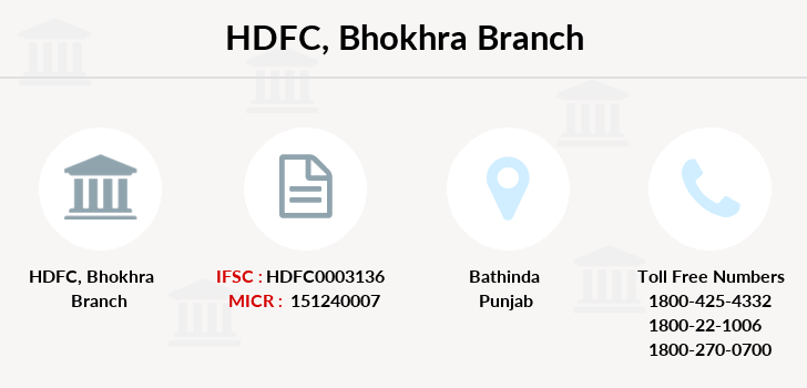 Hdfc-bank Bhokhra branch