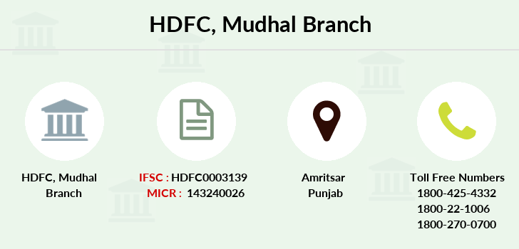 Hdfc-bank Mudhal branch