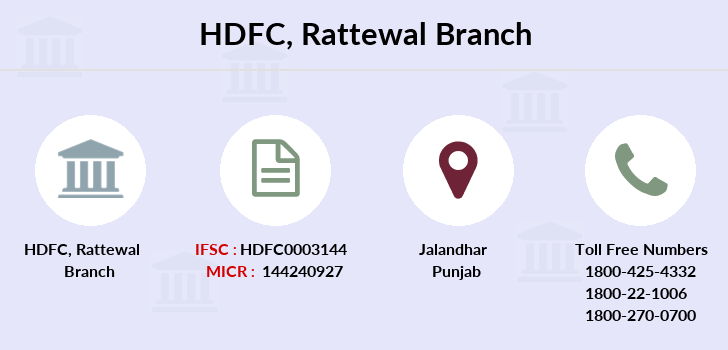 Hdfc-bank Rattewal branch