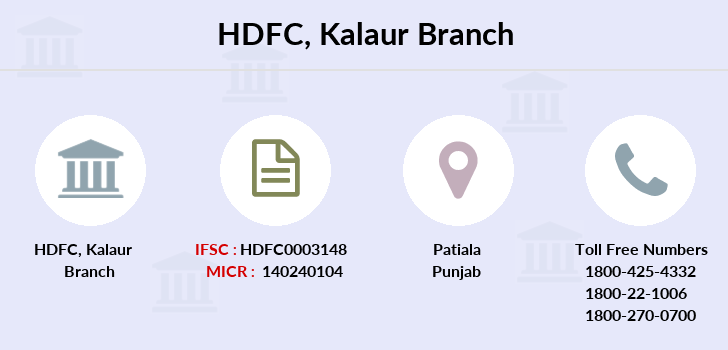 Hdfc-bank Kalaur branch