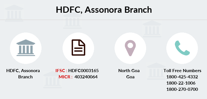 Hdfc-bank Assonora branch