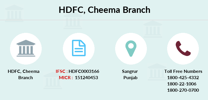 Hdfc-bank Cheema branch