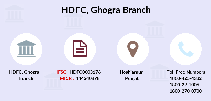 Hdfc-bank Ghogra branch