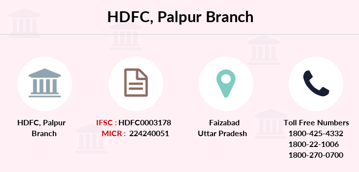 Hdfc-bank Palpur branch