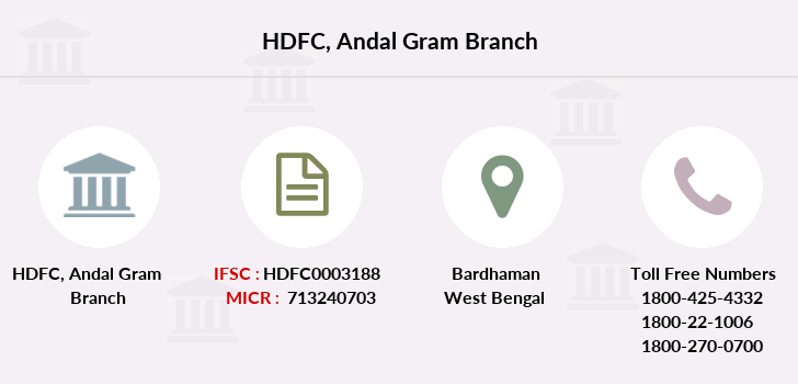 Hdfc-bank Andal-gram branch
