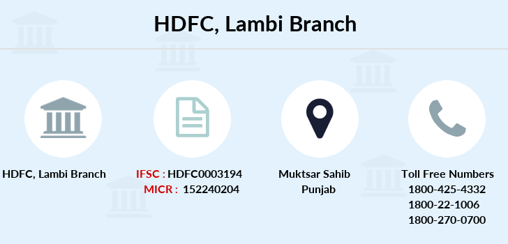 Hdfc-bank Lambi branch