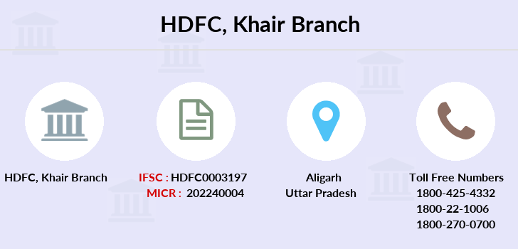 Hdfc-bank Khair branch