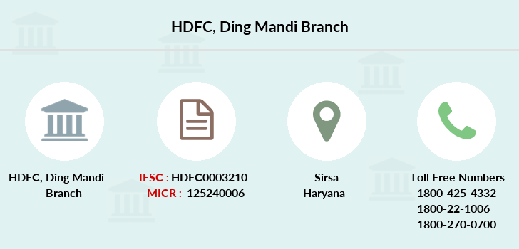 Hdfc-bank Ding-mandi branch