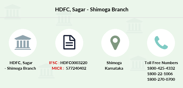 Hdfc-bank Sagar-shimoga branch