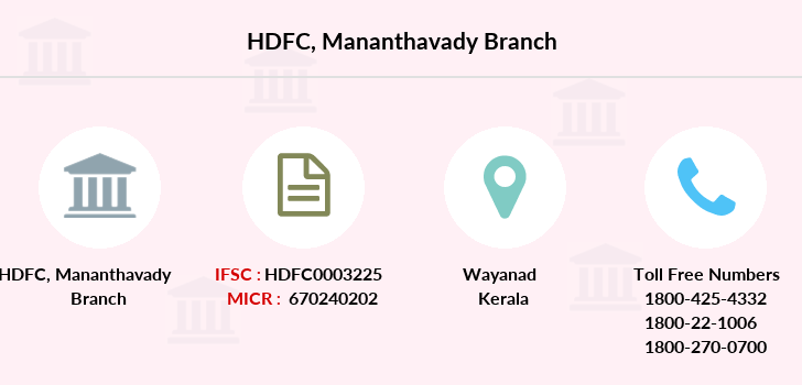 Hdfc-bank Mananthavady branch