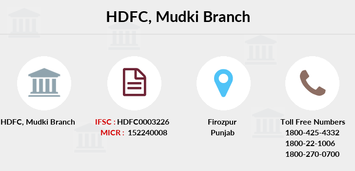 Hdfc-bank Mudki branch