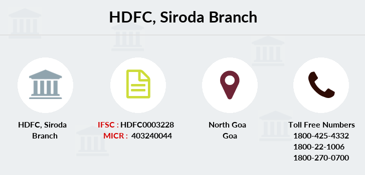 Hdfc-bank Siroda branch
