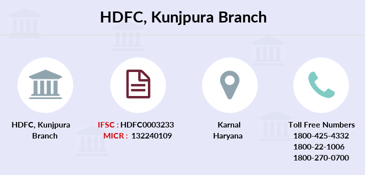Hdfc-bank Kunjpura branch