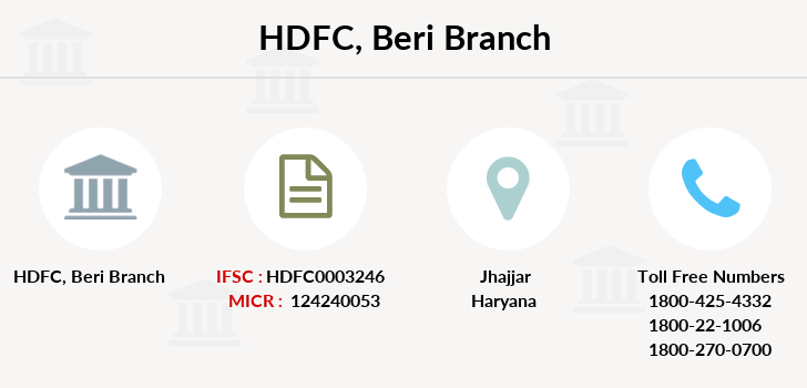 Hdfc-bank Beri branch