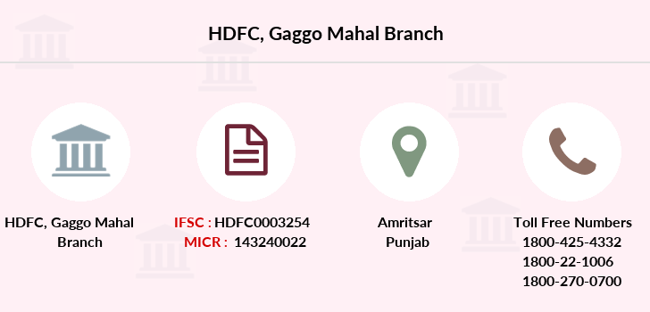 Hdfc-bank Gaggo-mahal branch