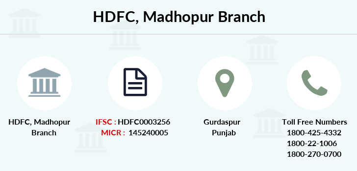 Hdfc-bank Madhopur branch