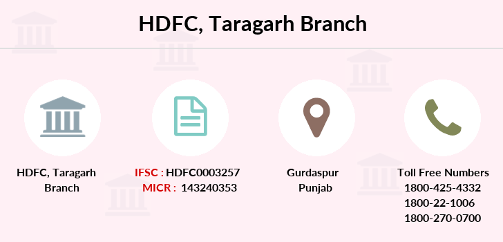 Hdfc-bank Taragarh branch