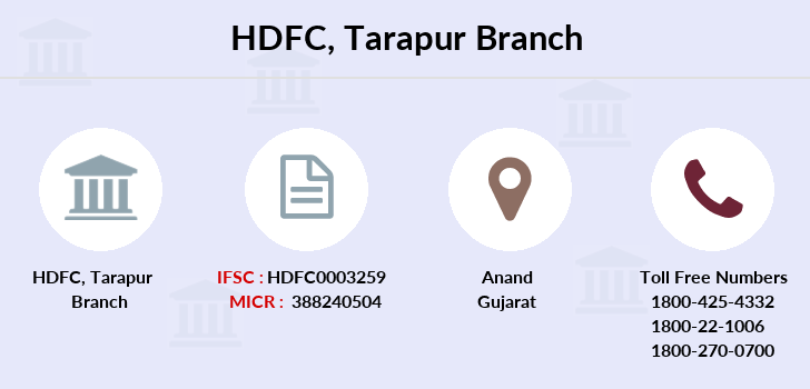 Hdfc-bank Tarapur branch