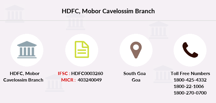 Hdfc-bank Mobor-cavelossim branch