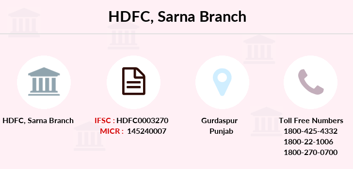 Hdfc-bank Sarna branch