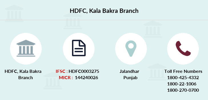 Hdfc-bank Kala-bakra branch