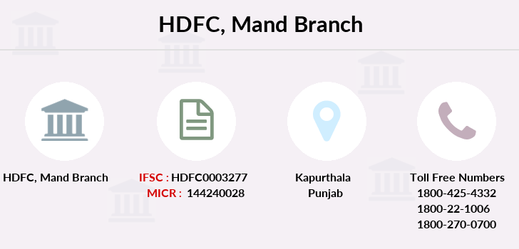 Hdfc-bank Mand branch