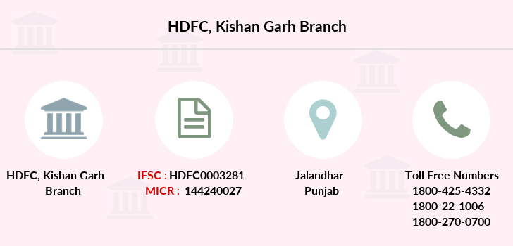 Hdfc-bank Kishan-garh branch