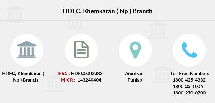 Hdfc-bank Khemkaran-np branch