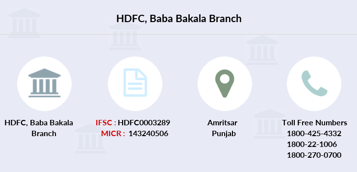 Hdfc-bank Baba-bakala branch