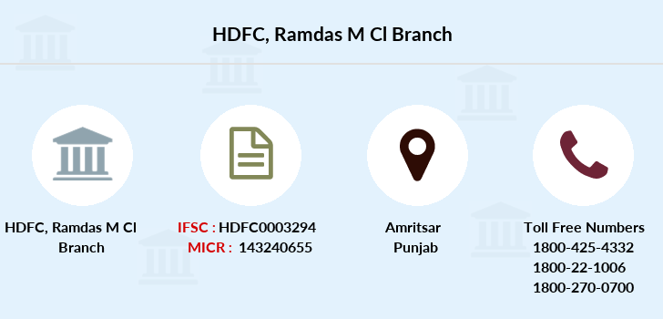 Hdfc-bank Ramdas-m-cl branch