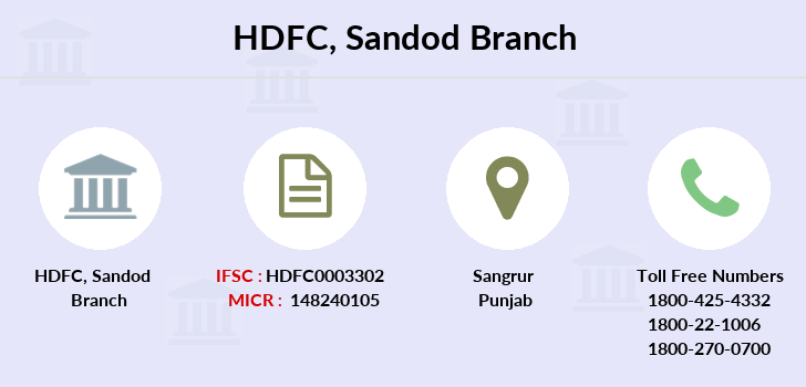 Hdfc-bank Sandod branch